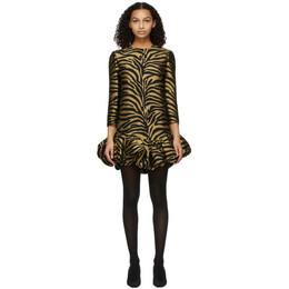 Khaite Gold and Black Lorie Dress 5165450