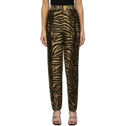 Khaite Gold and Black Magdeline Trousers 3060450