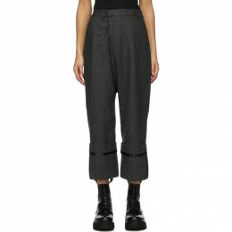 R13 Grey Wool Tailored Cross Over Trousers R13W9339-PL7