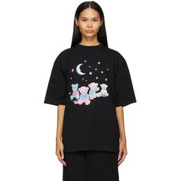 Balenciaga Black Love Bear XL T-Shirt 641532 TJVI1