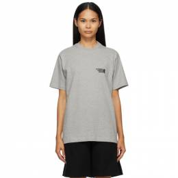 Vetements Grey Limited Edition Logo T-Shirt UE51TR720G
