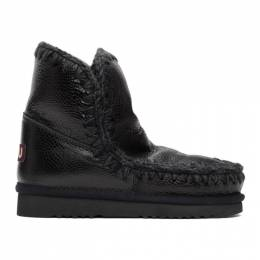 Mou Black Embossed 18 Ankle Boots MU.FW101001B