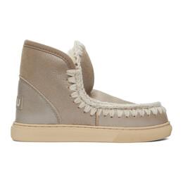 Mou Grey Metallic Sneaker Boots MU.FW111000B
