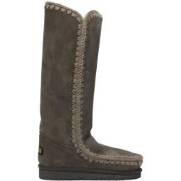 Mou Grey 40 Tall Boots MU.FW101002A