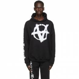 Vetements Black Anarchy Gothic Logo Hoodie UE51TR650B