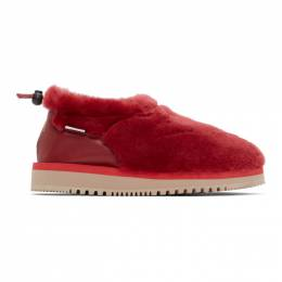 Aries Red Suicoke Edition Ron Loafers OG-073WPABARI-M