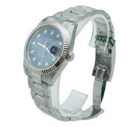 Rolex Datejust Blue Diamond Dial Men's Watch 41 MM 366032
