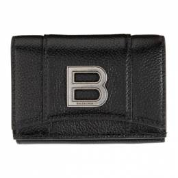 Balenciaga Black Mini Hourglass Wallet 600212 1IZHY