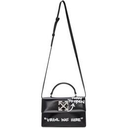 Off-White Black Quote Jitney 1.4 Bag OWNA092R21LEA0011001