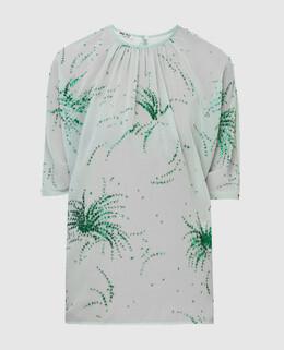 Зеленая блуза Miu Miu 2300004075768