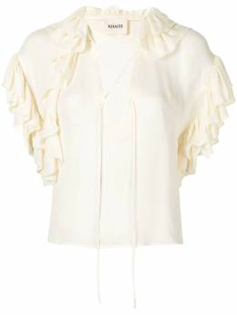 Khaite блузка The Dee с оборками 2154318