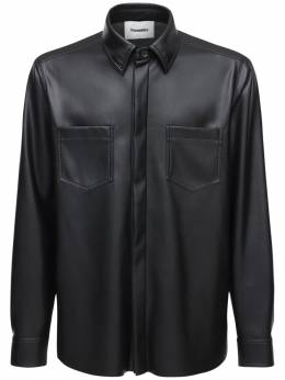 Рубашка Из Искусственной Кожи Nanushka 73IY4J010-QkxBQ0s1