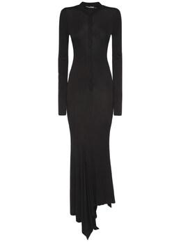 Платье Миди Из Вискозного Крепа Tom Ford 73IMBJ004-TEI5OTk1