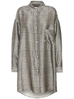 Платье-рубашка Из Вискозы Mm6 Maison Margiela 73IM8L007-MDAxUw2