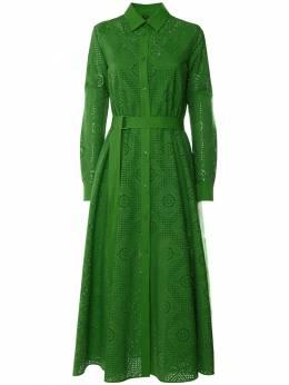 Платье Из Поплин С Вышивкой Loro Piana 73IKOW025-NTBCQw2