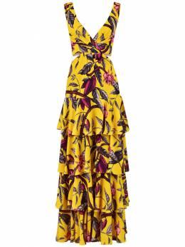 Платье Из Переработанного Жоржета Johanna Ortiz 73IGO0017-U0FUU1VNQSBTUFJJVFo1