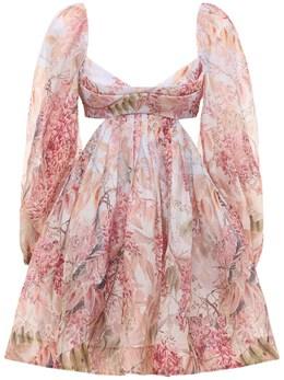 Платье Из Шелка И Льна Zimmermann 73IGF9005-TUlMRkw1
