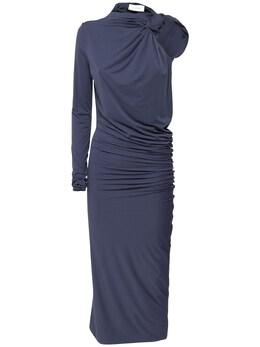 Платье Миди Из Джерси Sportmax 73ICD6021-MDA20