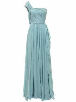 Платье Из Шелкового Шифона Elie Saab 73IB4T016-TElHSFQgQkxVRQ2