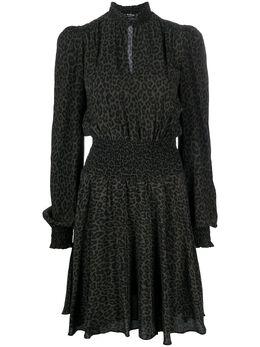 Pinko платье мини с леопардовым принтом 1Q107C8408SE5