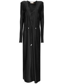 Платье Из Канваса С Поясом Alexandre Vauthier 73I5BH075-QkxBQ0s1