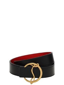 Кожаный Ремень С Пряжкой-логотипом 3.5cm Christian Louboutin 73I0GO031-MzI3OQ2