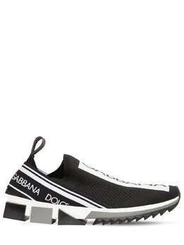 """Слипоны """"sorrento"""" Из Стретч Сетки Mesh Dolce&Gabbana 69I012001-ODk2OTA1"""