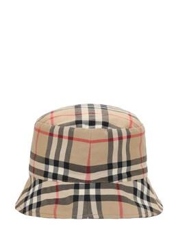 Шляпа Из Хлопкового Габардина Burberry 73I937050-QTcwMjg1