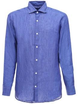 Льняная Рубашка Frescobol Carioca 71IDLT009-TkFWWSBCTFVF0