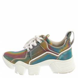 Givenchy Multicolor Polyurethane Jaw Low Top Sneakers Size 38 365791