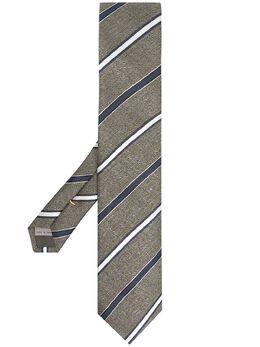 Canali жаккардовый галстук в полоску 18HJ03164