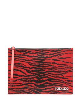 Kenzo клатч с тигровым принтом FB55PM902L43