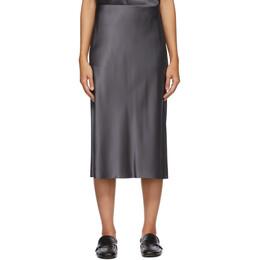 Joseph Grey Silk Isaak Skirt JF005250