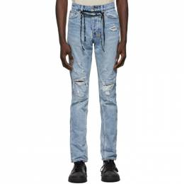 Ksubi Blue Chitch Distressed Jeans 5000005919