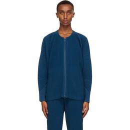 Homme Plisse Issey Miyake Blue Monthly Colors September Jacket HP08JL116