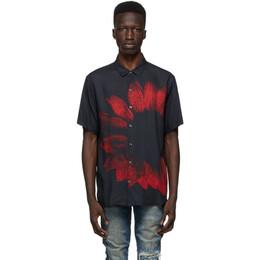 Ksubi Black and Red Dazed Short Sleeve Shirt 52870