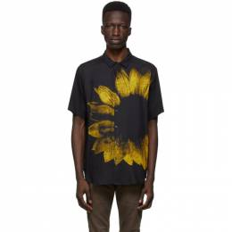 Ksubi Black and Yellow Dazed Short Sleeve Shirt 52880