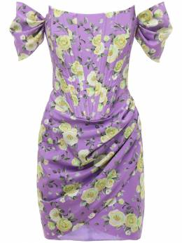 Платье Из Шелкового Крепа Giuseppe Di Morabito 73IWW4002-UFJJTlQgTElMSUFDIFNU0