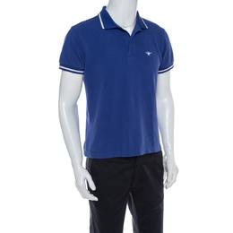Dior Blue Cotton Pique Polo T Shirt L 366793