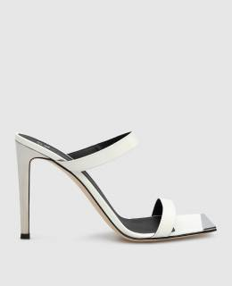 Белые кожаные босоножки Giuseppe Zanotti Design 2300006477898