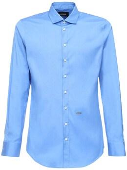 Рубашка Из Хлопка Поплин Dsquared2 72IG7E202-NDc10
