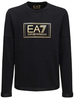 Полухлопковый Свитшот С Логотипом Ea7 72I4Q2046-MTIwMA2