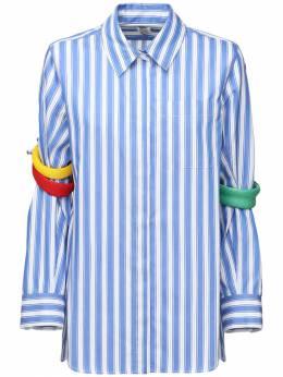 Хлопковая Рубашка С Полосками Rosie Assoulin 71IXTP015-NDkw0