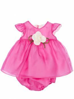 Silk Organza Dress W/ Diaper Cover La Stupenderia 71IXRS013-REFSSyBQSU5L0