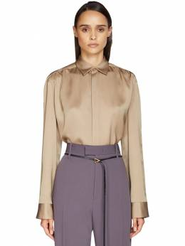 Блузка Из Шёлкового Атласа Bottega Veneta 71ICD3007-OTc2Ng2