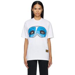 Pushbutton White Oversized Graphic T-Shirt PB2110610W