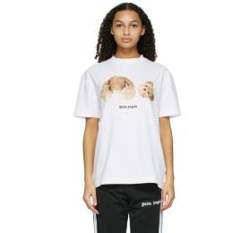 Palm Angels White Bear T-Shirt PMAA001R21JER0010160