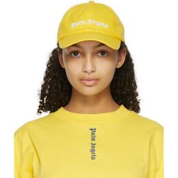 Palm Angels Yellow Classic Logo Cap PMLB003R21FAB0021801