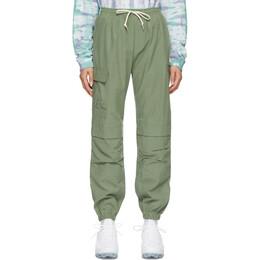 John Elliott Green Cotton Himalayan Lounge Pants WF043F46514A