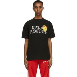 Palm Angels Black Smiley Edition Burning Head Logo T-Shirt PMAA001R21JER0031018